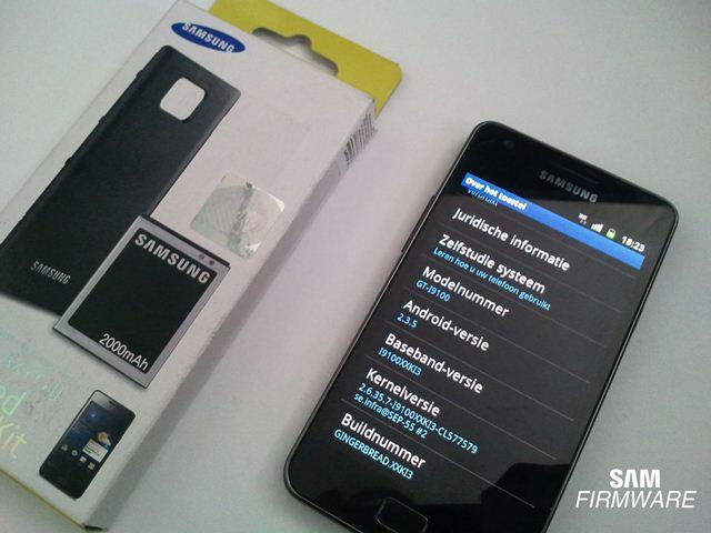 Android 2.3.5 voor de Samsung Galaxy S II