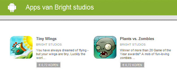 Nepversies Tiny Wings en Plants vs. Zombies