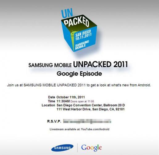 Samsung Mobile Unpacked Google Episode uitnodiging