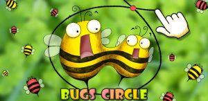 Bugs Circle: vliegen vangen door vlakken te tekenen