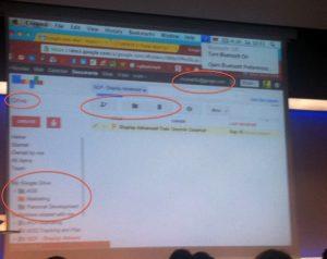 Google Drive gespot tijdens Google-presentatie