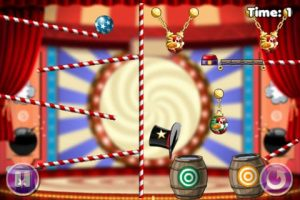 Clowning Around: circusvariant van Cut the Rope
