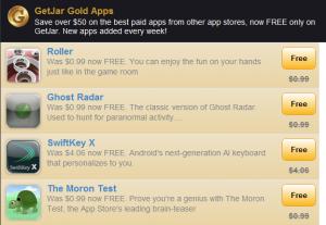 GetJar Gold is ook succesvol voor ontwikkelaars