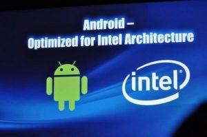 Volgende jaar eerste Android-telefoons met Intel-processoren