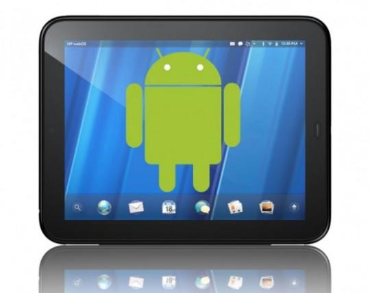 Android werkend op de HP TouchPad met speciale app