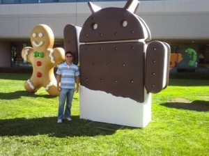 Twitteraccount Android geopend met teaservideo Ice Cream Sandwich