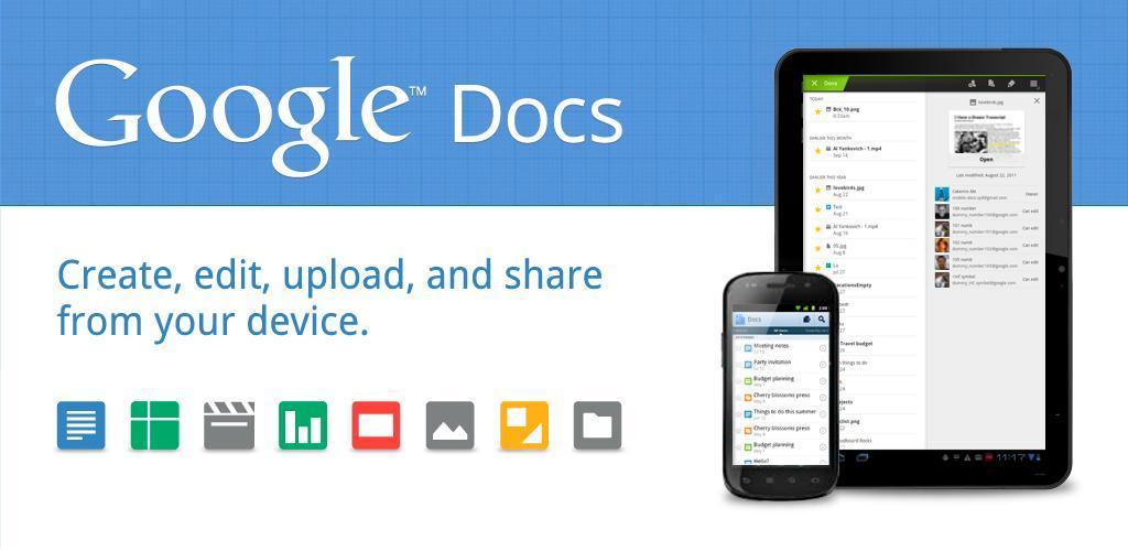 Google Docs nu ook geoptimaliseerd voor Android-tablets