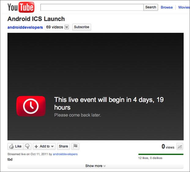 De verwijderde YouTube-pagina