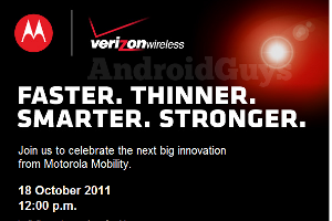 'Motorola kondigt volgende week Droid RAZR aan'