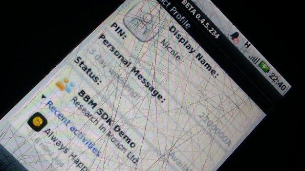 Eerste beelden BlackBerry Messenger voor Android gelekt