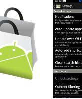 Nieuwe Android Market gelekt met auto-update functie en sterrenbeoordeling