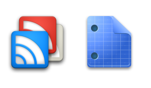Google Reader en Google Docs aangepast aan Ice Cream Sandwich