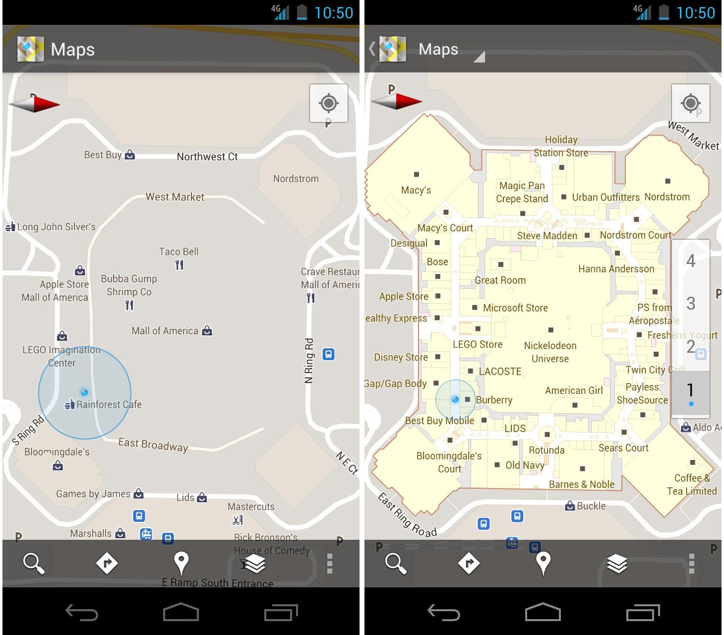 Google Maps biedt nu ook indoor navigatie aan