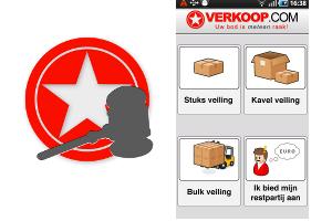 Bied op restpartijen met de Verkoop.com Android-app