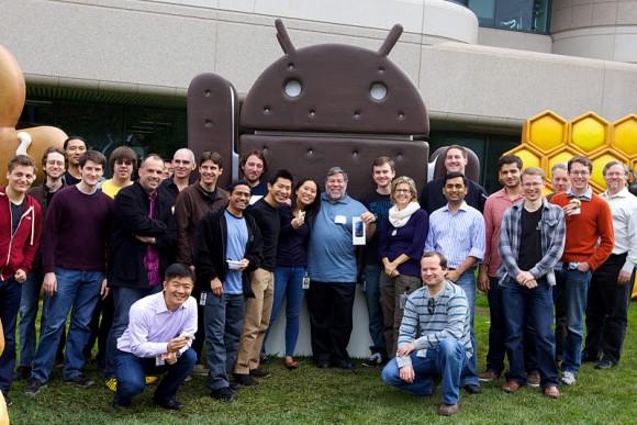 Steve Wozniak en enkele Googlers