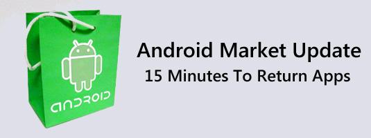 Google past teruggavebeleid Android Market niet aan