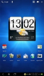 HTC Flyer Honeycomb homescreen