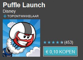 Tien apps voor tien cent dag 10 met o.a. Heavy Gunner 3D, Puffle Launch en Camera Zoom FX