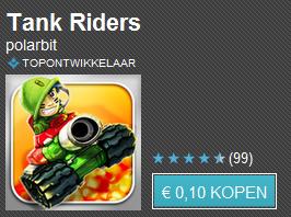 Tien apps voor tien cent dag 9 met o.a. Tank Riders, ezPDF Reader & SwiftKey X