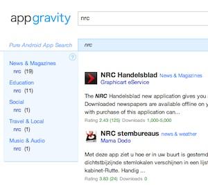 Appgravity laat je de Android Market op een nieuwe manier doorzoeken