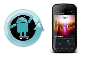 CyanogenMod 9 Music app nu al te downoaden voor ICS