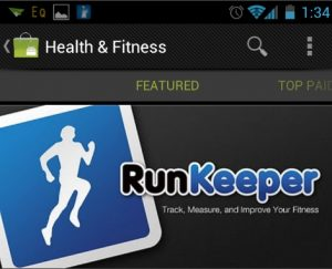 Fikse stijging downloads Runkeeper na uitgelicht te worden in de Android Market