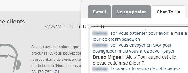 Het gesprek tussen Bruno en de HTC-medewerker