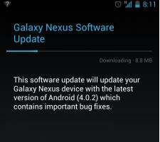 Android 4.0.2 nu beschikbaar voor de Galaxy Nexus