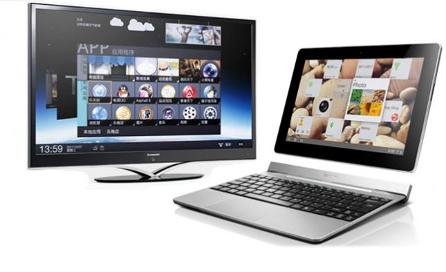 Lenovo kondigt 55 inch televisie en 10 inch tablet met Ice Cream Sandwich aan #CES2012