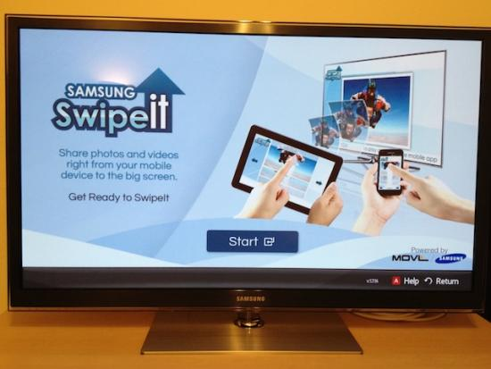 Samsung gaat AirPlay-concurrent SwipeIt op CES presenteren