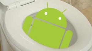 Android-gebruikers gebruiken hun smartphone vaker op de wc