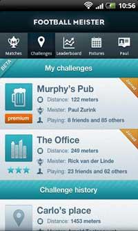 Football Meister 2.0 voor Android stuurt push notificaties tijdens wedstrijden