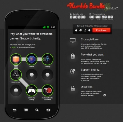 The Humble Bundle: kies zelf wat je betaalt voor Android-games als Osmos en World of Goo
