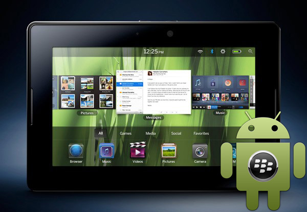BlackBerry PlayBook ondersteunt Android-apps na 6 februari