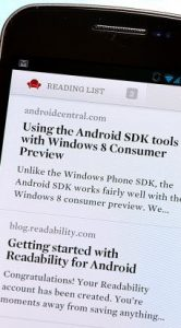 Readability voor Android 12 maart in Google Play te downloaden