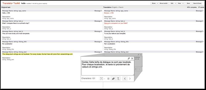 Eenvoudig tekst in apps vertalen met Google Translator Toolkit