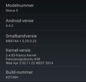 android firmwareversie