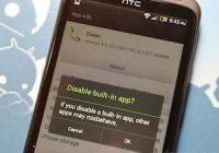 Uitschakelen van HTC Sense 4.0-apps maakt telefoon onbruikbaar