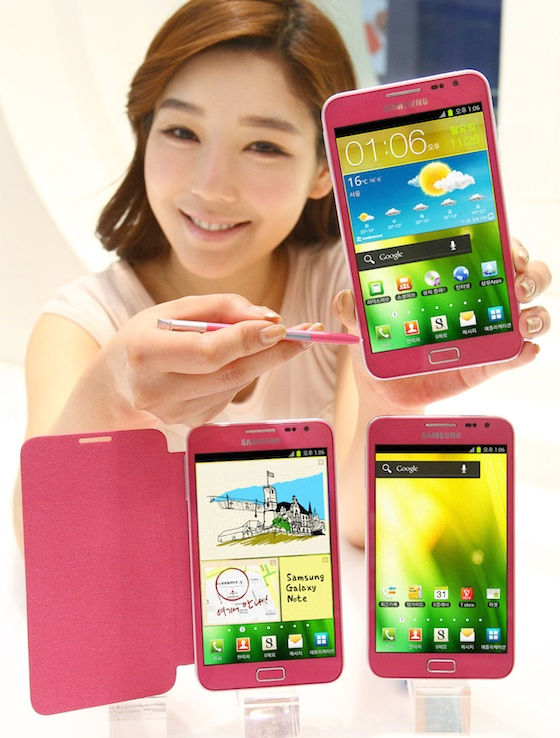 roze samsung galaxy note