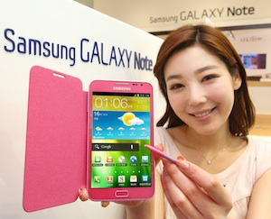 samsung galaxy note roze