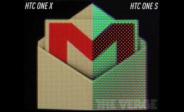 One X vs. One S scherm