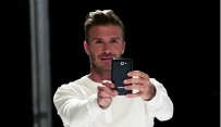 David Beckham met Galaxy Note