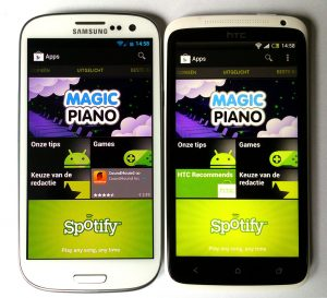 Samsung Galaxy S III vs. HTC One X: kleuren