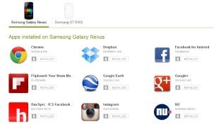 Nieuwe website Google Play Store laat gebruikers apps verwijderen en updaten