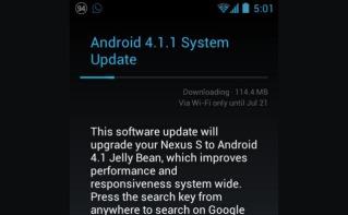 Jelly Bean OTA-update voor Nexus S begonnen, officiële download beschikbaar