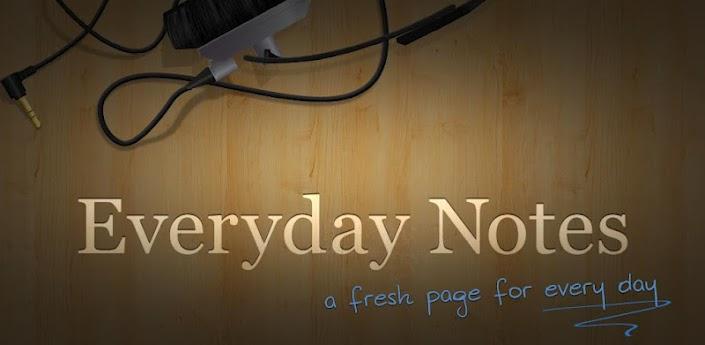 Everyday Notes is een stijlvolle notitie-app voor Android