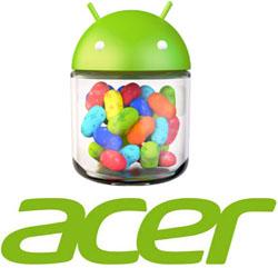 Acer maakt Android 4.1 Jelly Bean updateschema bekend
