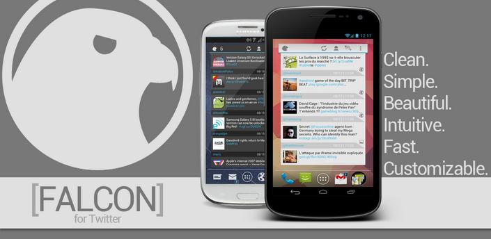 Falcon for Twitter: een uitgebreide en volledige Twitter-app als widget