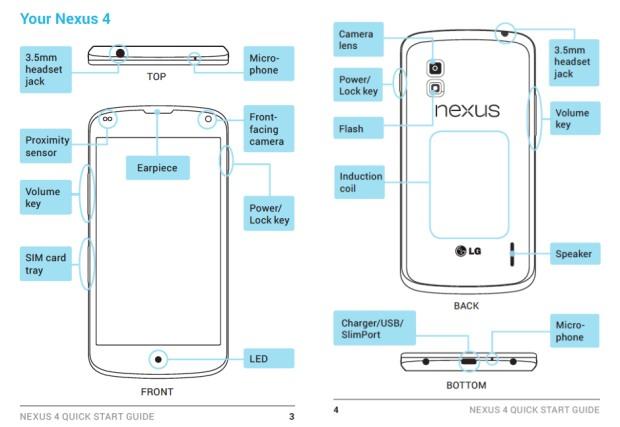 LG lekt handleiding Nexus 4, bevestigt draadloos opladen en 16GB-model