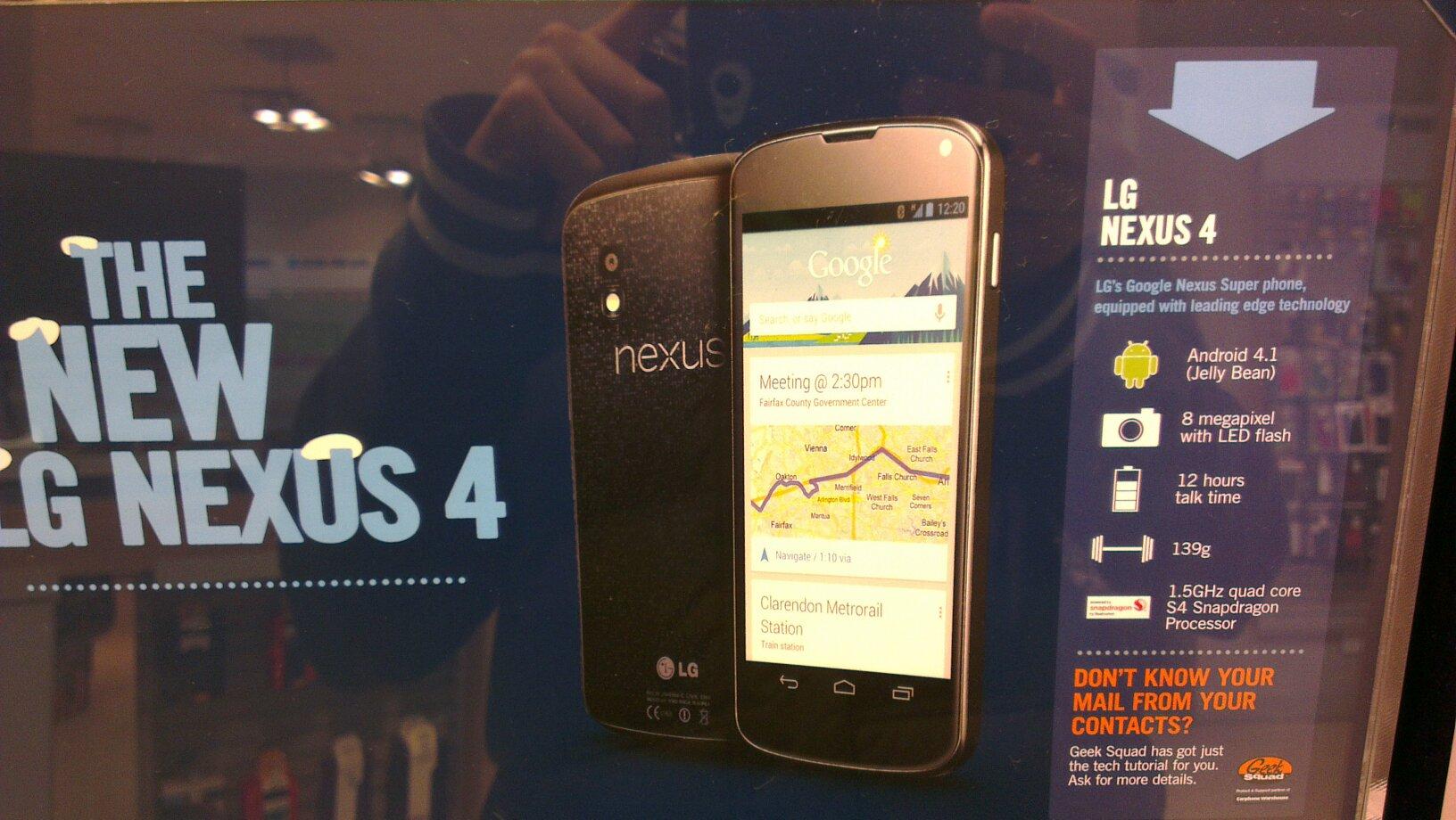 Britse The Phone House plaatst promoposter Nexus 4, bevestigt specificaties en prijs